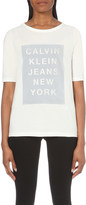 Calvin Klein Graphic-print cotton-jersey t-shirt