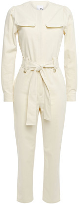 Iris & Ink Imani Belted Cotton-drill Jumpsuit