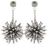 Oscar de la Renta Crystal-embellished beaded earrings