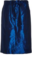 Tibi Twilight Blue Relaxed Cargo Skirt