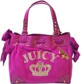 Juicy Couture Royal Iconic Velou Daydreamer Tote Shoulder Bag Handbag Purse