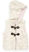 Tucker + Tate Faux Fur Hooded Vest (Toddler Girls, Little Girls & Big Girls)