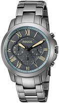 Fossil Men's FS5185 Grant Chronograph Gunmetal Stainless Steel Watch