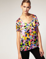 Josh Goot for ASOS Printed Silk T Shirt