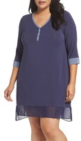 DKNY Plus Size Women's Henley Sleep Shirt