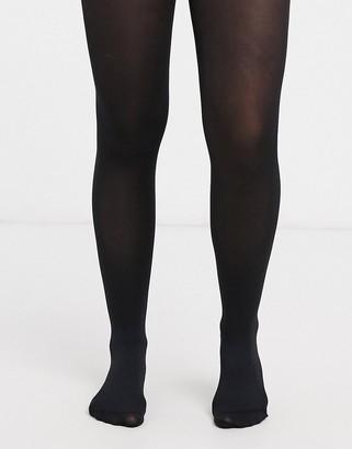 ASOS DESIGN 80 denier black tights in recycled nylon
