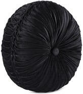 J Queen New York Bradshaw Black Tufted Round Decorative Pillow