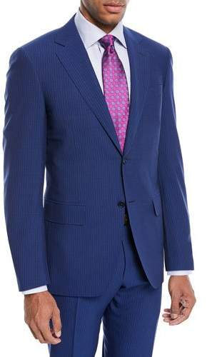 Canali Double-Stripe Wool Two-Piece Suit