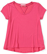 Blu Pepper Big Girls 7-16 Cutout Short-Sleeve Top