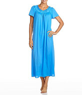 Miss Elaine Petite Floral-Embroidered Nightgown