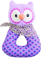 Apple Park Purple Owl Rattle
