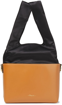 3.1 Phillip Lim Two-tone Satin And Leather Bucket Bag