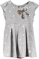 U.S. Polo Assn. Girls Cap Sleeve Dress With Sequin Bow