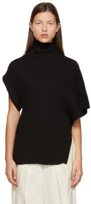Issey Miyake Black Cashmere Knit Turtleneck