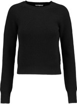 Helmut Lang Cropped ribbed wool and cashmere-blend sweater