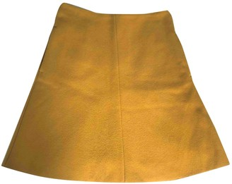 Carven Yellow Wool Skirts