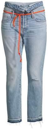 Hudson Jeans Jessi Fold Over Tie Waist Jeans