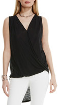 Vince Camuto Faux Wrap High/Low Tank
