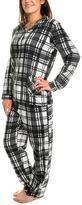 Angelina Black & White Checker Giftable Fleece Pajama Set