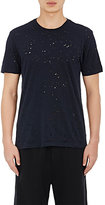"Barneys New York Men's Distressed ""Acid Rain"" T-Shirt-NAVY"