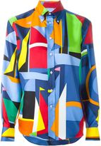 Ralph Lauren geometric print shirt - women - Silk - 12