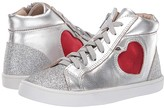 Old Soles Hearty High Top (Toddler/Little Kid) (Silver/Glam Argent/Red Foil) Girl's Shoes