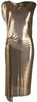 Paco Rabanne Metallic Fitted Midi Dress