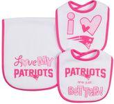 Gerber Baby New England Patriots 3-Piece Bib & Burpcloth Set