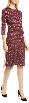HUGO BOSS Ebriella Embroidered Dot Dress