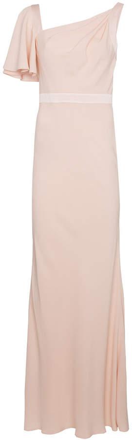 Alexander McQueen one-shoulder evening gown
