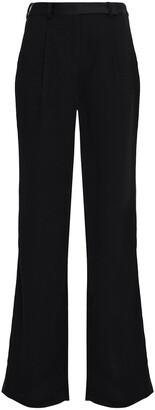 BA&SH Satin-trimmed Crepe Wide-leg Pants