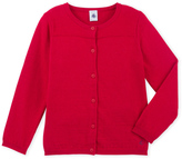 Petit Bateau Girls cardigan in wool and cotton