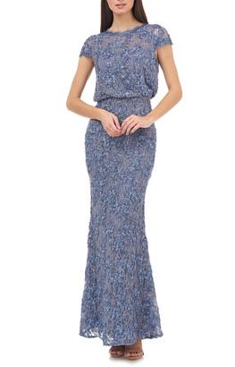 JS Collections Blouson Lace Gown