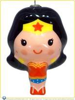 "Hallmark DC Comics Wonder Woman Decoupage Shatter Proof 3"" Holiday Christmas Ornament"