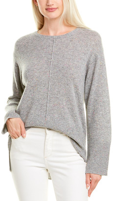Hannah Rose High-Low Cashmere Sweater