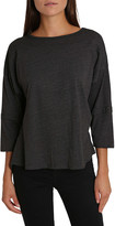 Blis Women's Tee Shirts Charcoal - Charcoal Three-Quarter Sleeve Dolman Lounge Top - Women & Plus