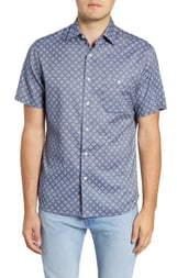 Faherty Coast Regular Fit Short Sleeve Button-Up Shirt