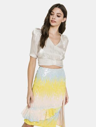 Endless Rose Color Block Sequin Skirt