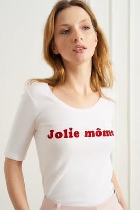 La Petite Francaise Jolie Mome Toinette Tee White - M/L