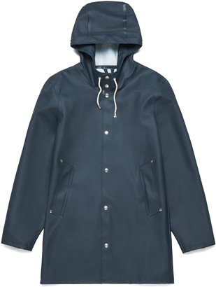 Stutterheim Navy Womens Stockholm Raincoat - XXS - Blue