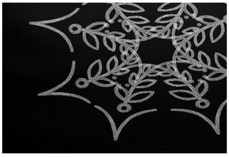 The Holiday Aisle Web Art Holiday Print Flatweave Black Rug Rug Size: Rectangle 2' x 3'