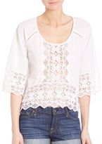 Nightcap Clothing Lace Raglan Top