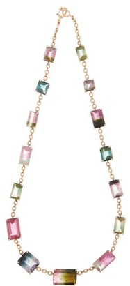 Irene Neuwirth Watermelon Tourmaline & 18kt Gold Necklace - Multi
