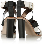 Twelfth St. By Cynthia Vincent Alisa leather and denim sandals