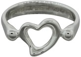 Tiffany & Co. Elsa Peretti Sterling Silver Open Heart Ring Size 4.5