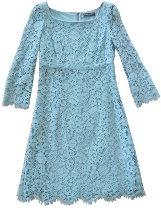Dolce & Gabbana Turquoise Lace Dress for Women
