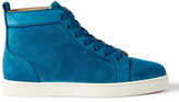 Thumbnail for your product : Christian Louboutin Louis Orlato Grosgrain-Trimmed Suede High-Top Sneakers