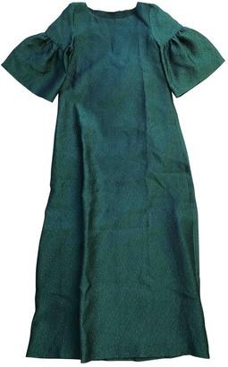Reem Acra Green Silk Dress for Women