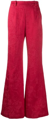 Blumarine Floral Patterned Flared Trousers