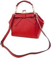 Donalworld Woen Retro Hollow out PU Leather Shoulder Handbag